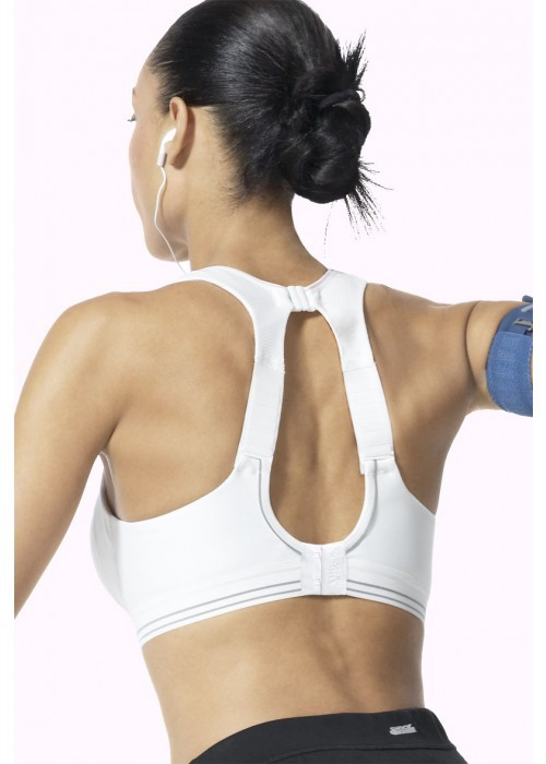 c2e2f453ec03a Get Quotations · 2014 Fashion Racer Back Level 4 Maximum Control Impact Run  Sports Bra Black White 32 34