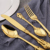 Dubai Stainless Steel Flatware Knife And Fork Palace Luxury Gold Cutlery Set With Carved Handle