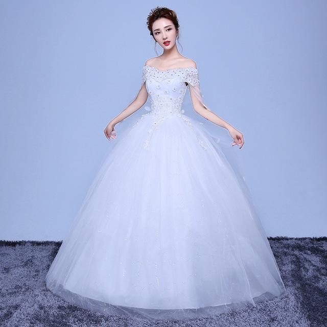 58366e31f24f WEN01 2018 Korean Fashion Ladies Elegant Wedding Dresses