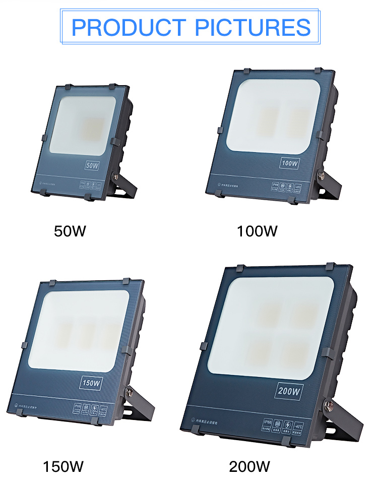 Commercial ip65 50w 100w 150w 200w smd outdoor led flood light