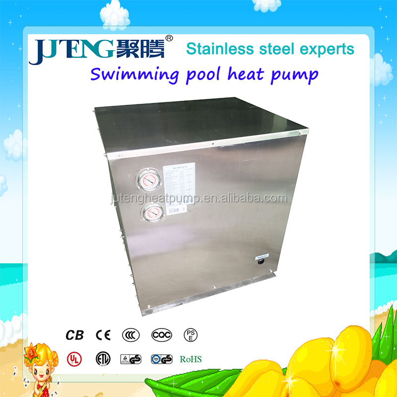 SPA geothermal Water source Swimming pool heater pump wifi Juteng stainless steel water to water 7kW family heater for cold area