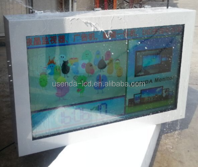 Outdoor Periklanan Layar 46 Inch IP65 Tahan Air 1500 CD/M2 Outdoor Kios LCD