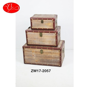 Fir Wood Custom large decoration storage Wooden Trunk