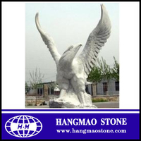 Abstract garden decoration life size stone carving statue