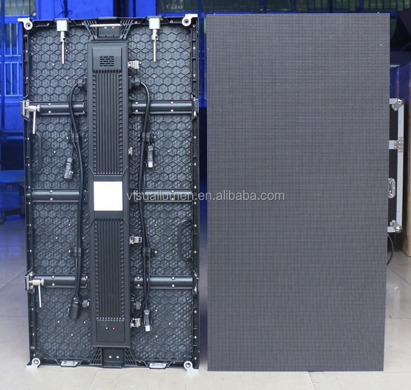 P6.25 outdoor indoor LED display video wall 6.25mm pixel pitch 500*1000 die casting cabinet