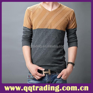 Comfortable sporty style hand knitted best woolen design men sweaters