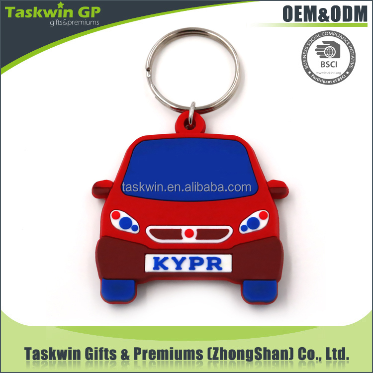 2017 premium gift custom shape soft pvc keychains,hard plastic key tags for promotion