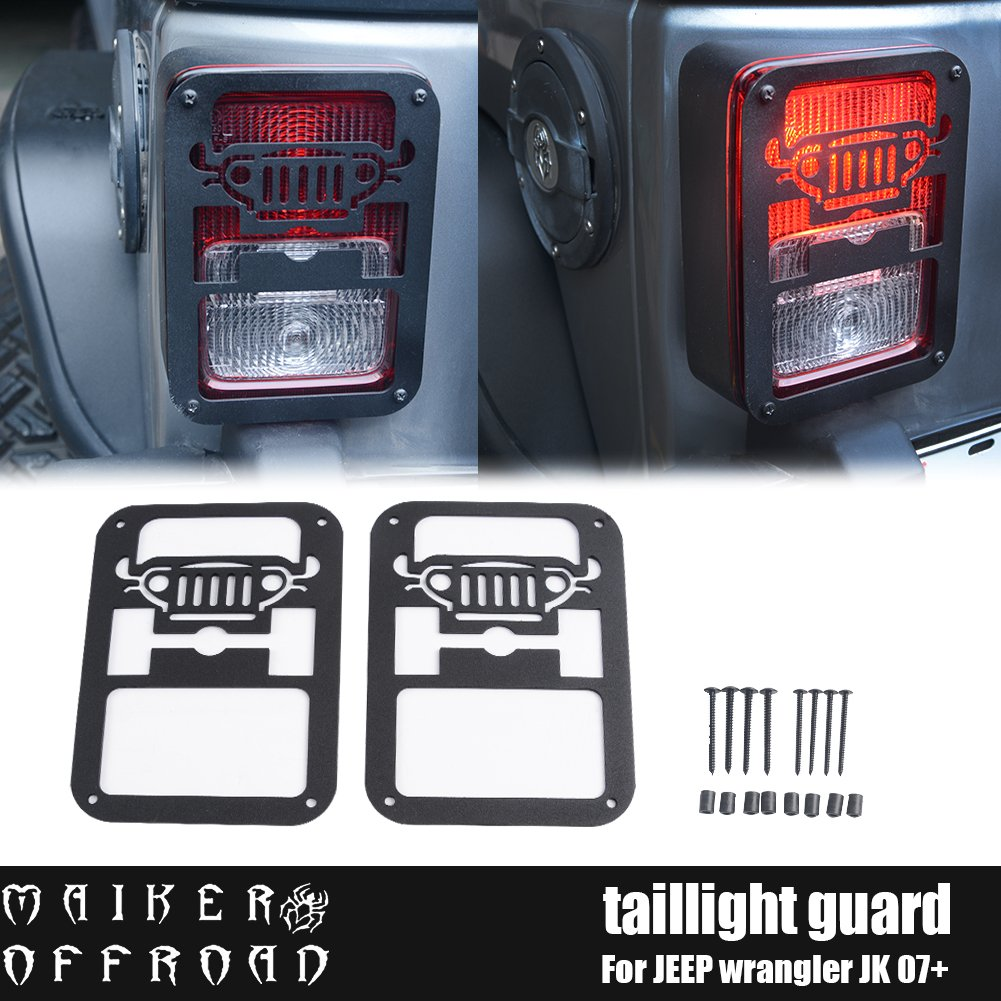 Cheap Jeep Tail Light Covers Find Deals On Jk Fog Wiring Get Quotations Maiker Wrangler Cover Guards Protectors For Unlimited