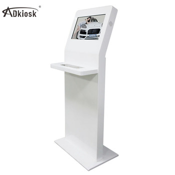 LCD supermarket smart self-service pos kiosk payment terminal hotel check in touch kiosk with keyboard