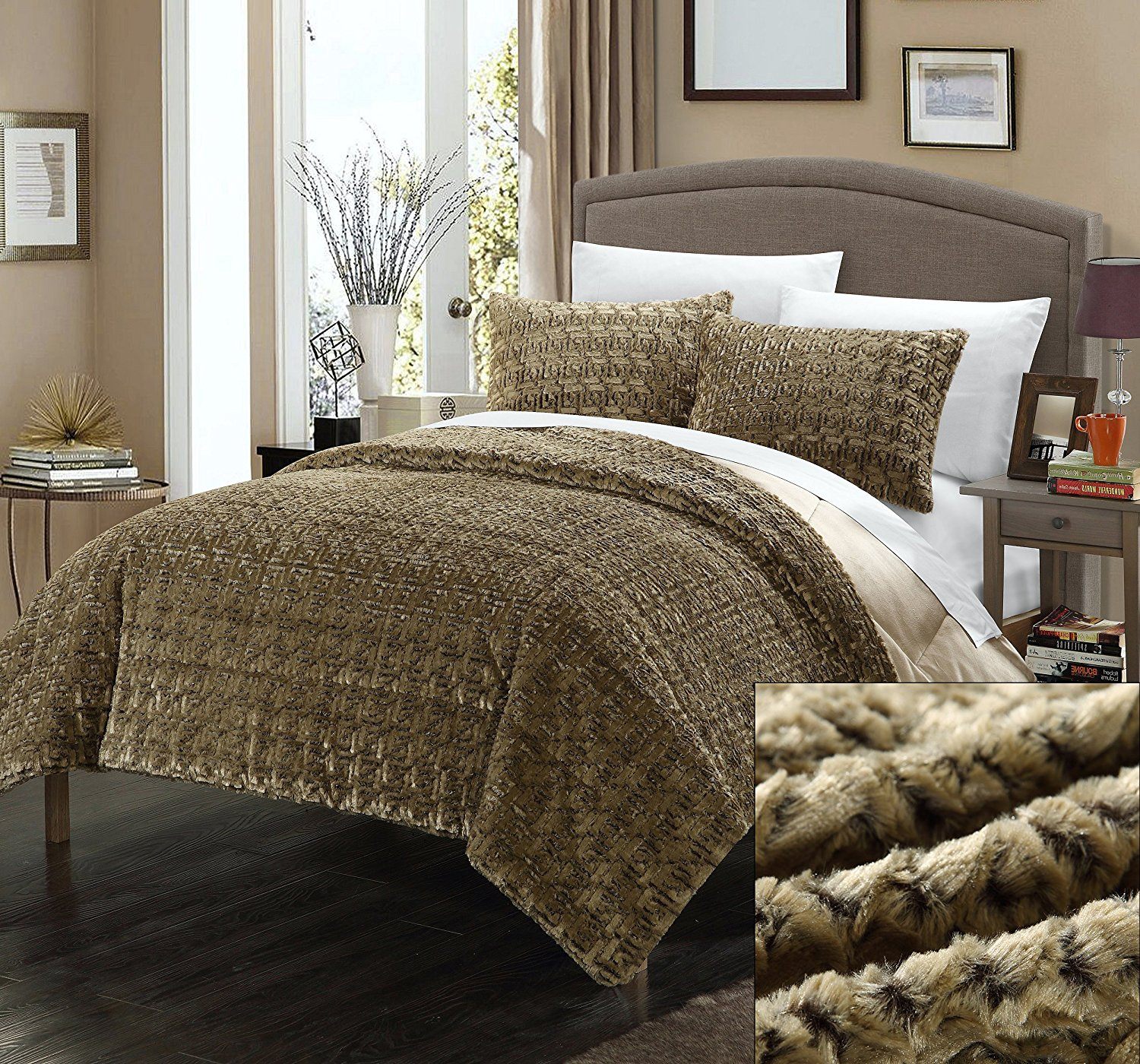 comforter cannon fur getimage faux brown way online your url shop shopping shld