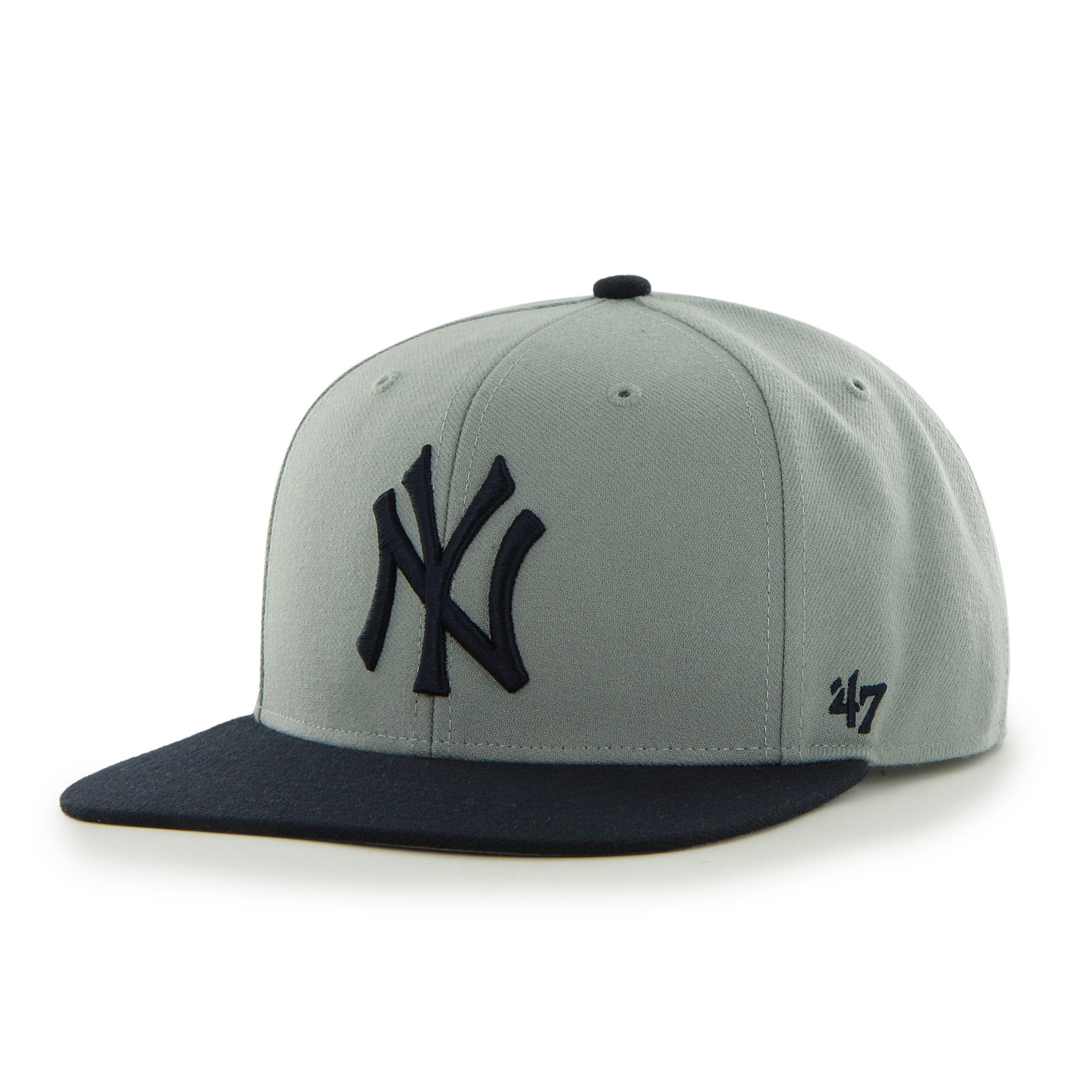 add9764a Get Quotations · 47 Brand New York Yankees Two-Toned Sure Shot Mens Snapback  Hat B-SRSTT17WBP