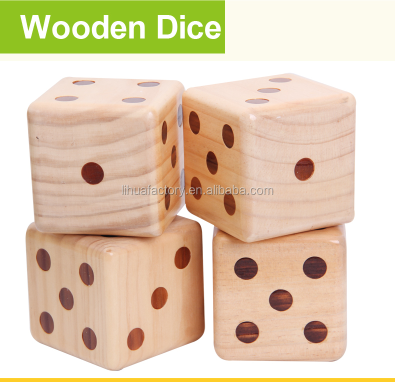 Large Wooden Yard Dice Outdoor Lawn Game Wooden Extra Large Numbered Big Dice In Carry Bag Buy Large Wooden Dicedice Gameoutdoor Yard Dice Product