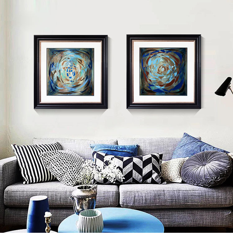 Abstract Oil Painting Frame 30x30 Square Shape Photo Picture Frames ...