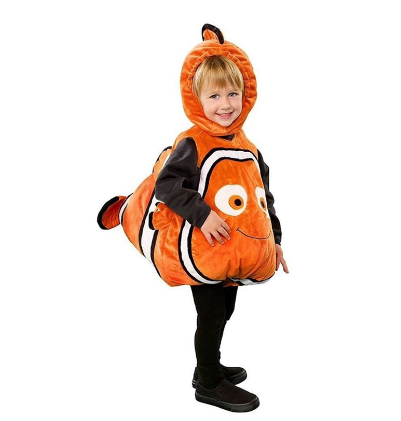 Home Kids Clown Fish Costume Cartoon Character Nemo Cosplay Costume Clown Fish Onesies Fancy Dress Jumpsuit Carnival Costumes