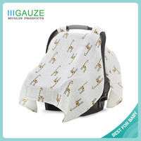 A29 Amazon Hot Sale Baby Stroller Summer Double Layer Muslin Baby Canopy Car Seat Cover