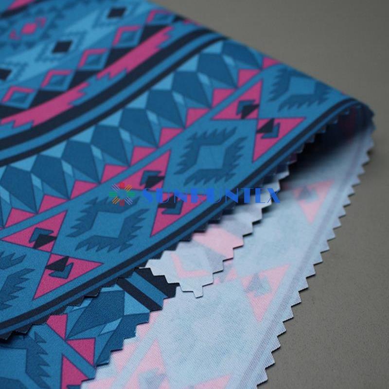 outdoor functional woven 228T printed nylon taslon clothing ski suit fabric