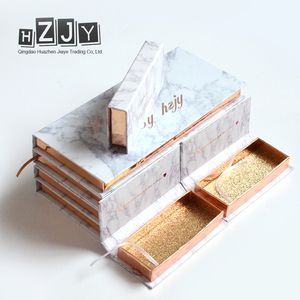 HZJY New Styles Strip Lashes Private Label Eyelash Packaging Box Glitter