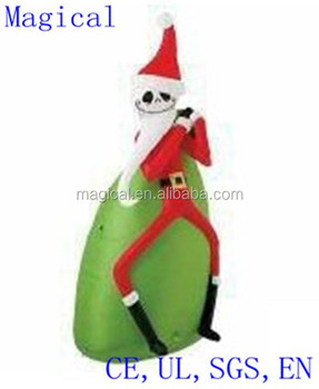 the nightmare before christmas santa jack skellington christmas inflatable