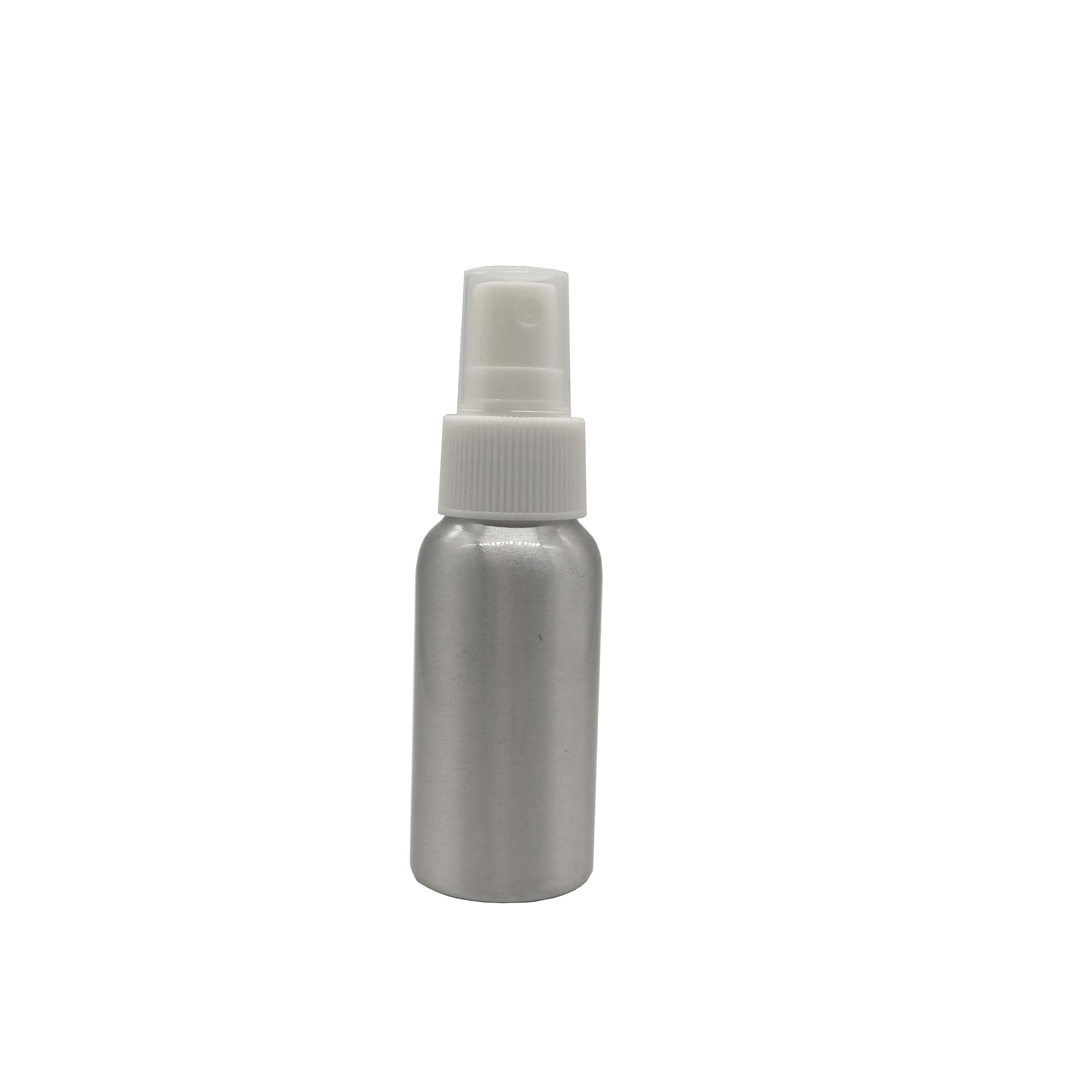 30/50/100/150/200/250/500ml silvery aluminum spray bottle shampoo bath lotion moisturizer screw cap with lid