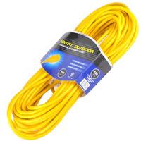 general extension cord 16/3 Vinyl Outdoor Extension Cord 3-Conductor SJTW - 100 Feet , Yellow