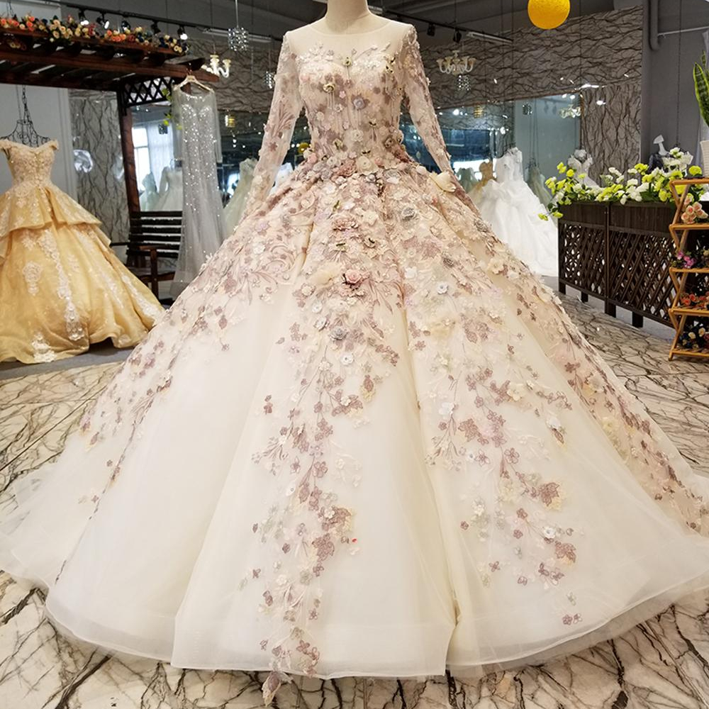 Ls3211 Long Sleeve Luxury Elegant 3d Flower Applique Gown Beautiful Ball Gown Evening Dresses Buy Beautiful Evening Dresses Long Sleeve Gown Latest Dress Pattern Product On Alibaba Com,Plus Size Black Dress For Wedding Guest