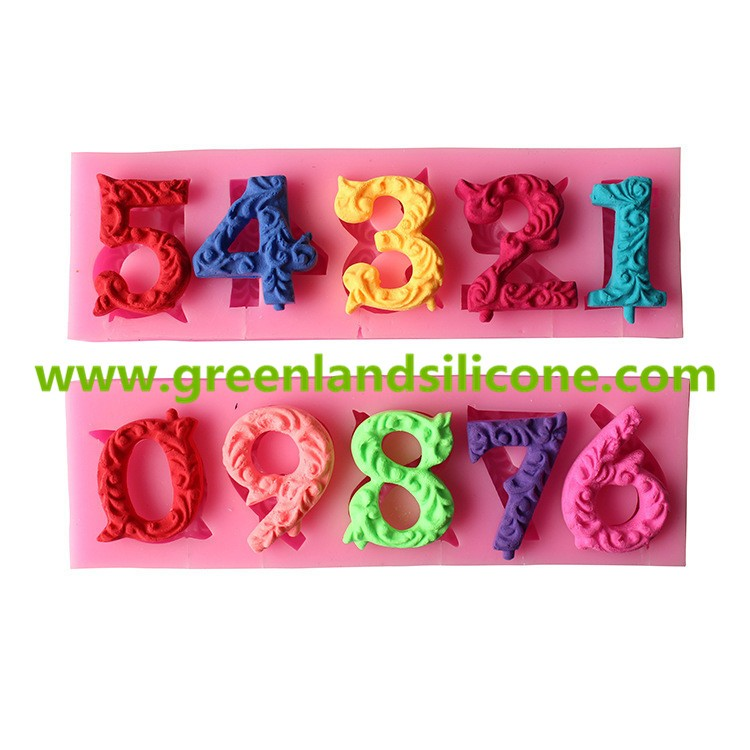 birthday cake decoration numbers candle chocolate silicone mold