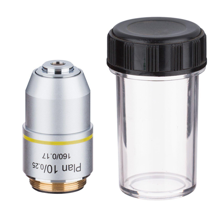 AmScope PA10X 10X Plan Achromatic Microscope Objective