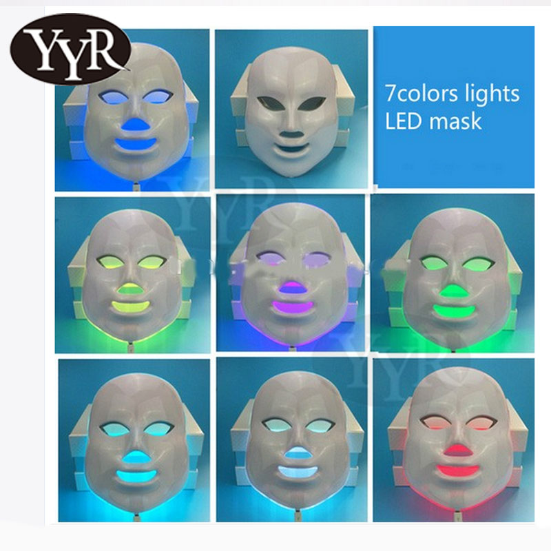 YYR Professionale led pdt terapia della luce rosso blu led/led light therapy maschera pdt/maschera led