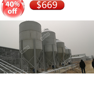 8T More available space Stainless steel storage bestselling feed silo for sale