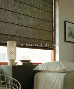 Curtains Ideas curtain rod roman shades : Bintronic Motorized Curtain Rods For Roman Curtain Motorized Roman ...