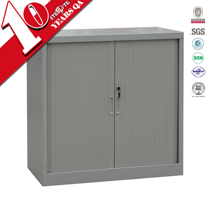 Pvc Folding Door Cabinet For File & Books Storage / Durable Lockable ...