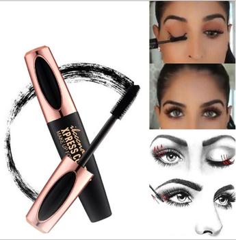 60f8f02bae1 2018 Hot Sale Makeup Eye lash Black Waterproof Volumizing 4D Silk Fiber  EyeLash Mascara China