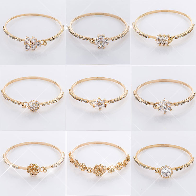 18k 24k New Gold Bracelet Designs Woman