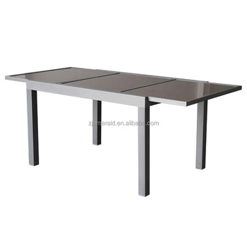 Outdoor Aluminum Patio Extendable Gl Dining Table
