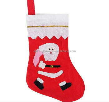 Felt drawstring christmas gift bags