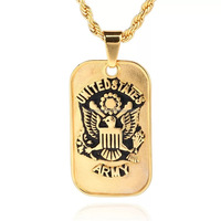 IDP891829 Amy Name Dog Tag Pendant Necklace Gold color dog tag pendant necklace United States ealge