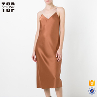 New products 2017 innovative product reversible shiny slip dress for women elegant dresses sexy