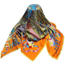 wholesale china luxury women higab silk priated scarf
