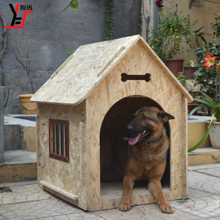 Pet Outdoor Large Wood Dog House Rain Proof Pretty
