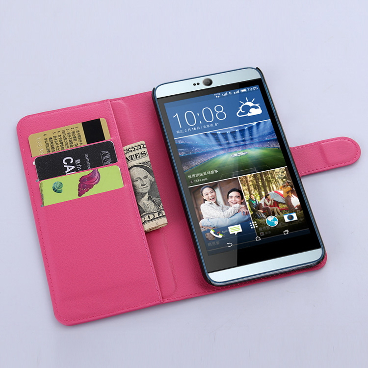 Best quality manufacture leather mobile case for htc desire 826