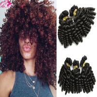 Wholesale price 7A virgin malaysian baby curl human hair weave