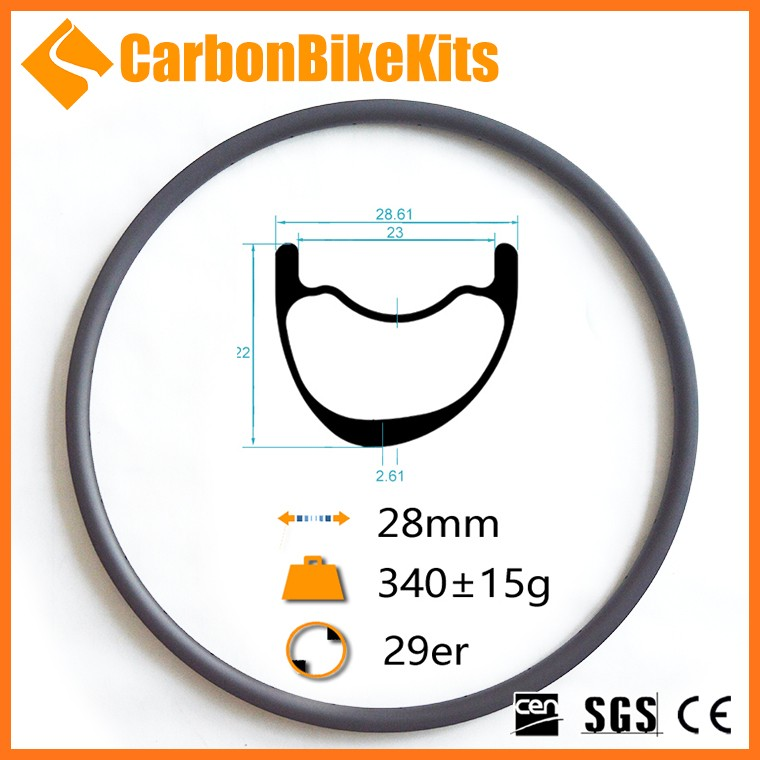 New design plus wide carbon rims offset 29er carbon rim