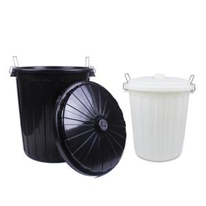 Outdoor plastic advertising rubbish can smart trash bin