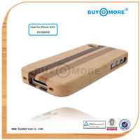 Newest style hot sale protective mobile phone case cover wood bamboo for apple iphone 4 6 case cover