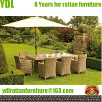YDL Outdoor Patio set wicker wrought iron garden furniture round rattan dining sets