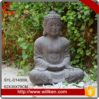 Fiberglass buddha figurine garden accessories for sale
