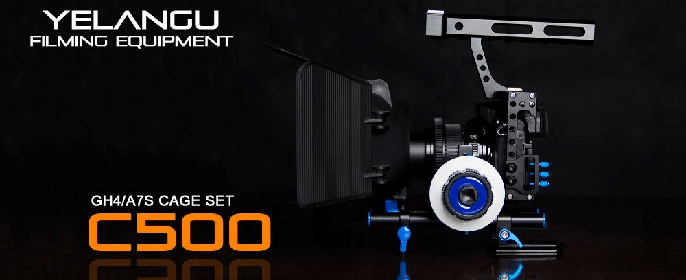 YELANGU C500 Camera Cage Set Kit For A7 A7s GH4