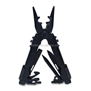 Stainless Steel Hand Tool Plier Black Home Outdoor Survival Gear Knife Saw Screwdriver Camping EDC Multifunctional Folding Plier