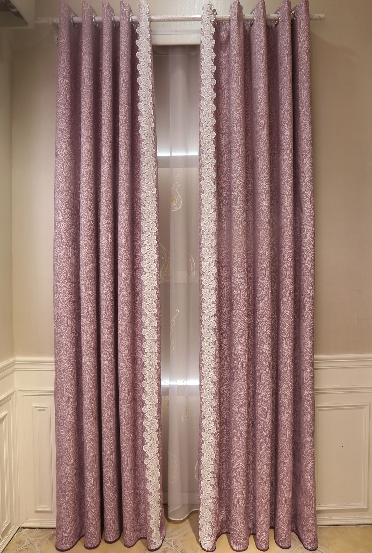 Purple Lace Lace New Styles Of Curtains Simple Curtain Design