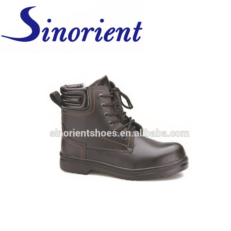 New fashionable Genuine leather PU sole CE certificate High ankle safety shoes with steel toe RS103